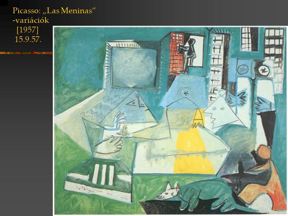 """Picasso: """"Las Meninas -variációk [1957] 15.9.57."""